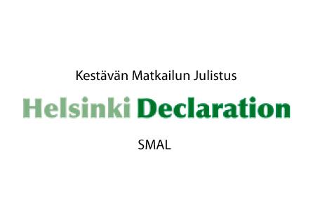 Kestävän matkailun julistus - Helsinki Declaration - SMAL